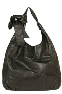 Paul & Joe Black Leather Hobo Bag