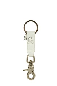 Coach White Leather Key Ring