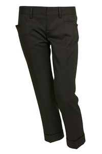 Dsquared Black Cropped Pants with Pressed Creases