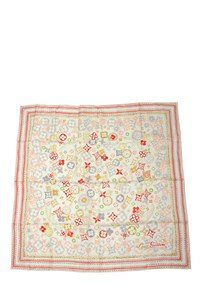 Louis Vuitton Comete Corail Silk Scarf