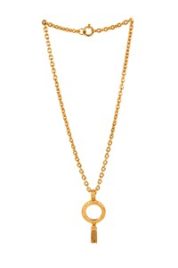 Chanel Golden Mirror Pendant Necklace