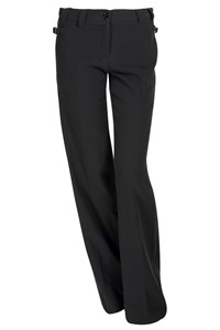 Moschino CheapAndChic Navy High-Waisted Pressed Trousers