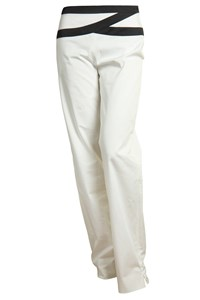 Ferragamo White and Black Trousers
