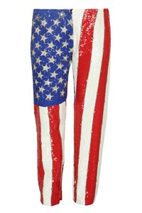 Dolce & Gabbana US Flag Sequined Trousers