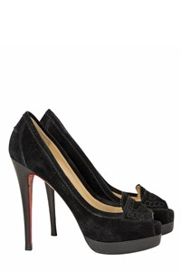 Christian Louboutin Peniche Black Suede Pumps
