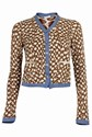 Paul Smith Combined Fabrics Polka Dot Cardigan