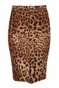 Dolce & Gabbana Animal-Print Pencil Skirt