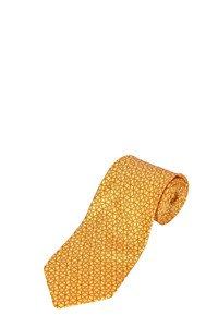 Salvatore Ferragamo Yellow Printed Silk Tie