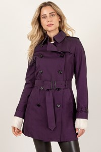 Burberry London Aubergine Mid-length Chelsea Trench Coat / Size: 10 UK - Fit: S/M