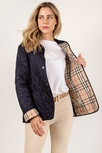 Burberry London Blue Quilted Lightweight Jacket / Size: M - Fit: True to size