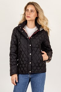Burberry London Blue Quilted Jacket with Removable Hood / Size: 42 IT - Fit: S