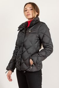 Burberry Brit Black Quilted Jacket with Hood / Size: XS - Fit: True to size