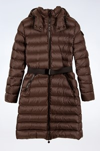 Moncler Brown Quilted Midi Jacket / Size: 3 - Fit: S / M