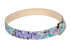 Pucci Multicoloured Floral Leather Belt Solid