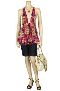 Dsquared Floral-Print Jersey Top