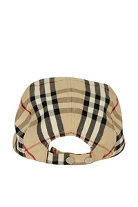 Burberry Check Canvas Jockey Hat