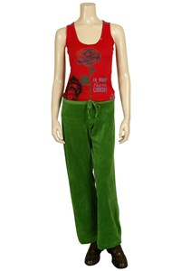 Juicy Couture Pea Green Velour Pants