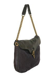 Sonia Rykiel Betty II Bicolo Suede and Leather Hobo Bag