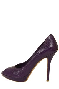Dior Miss Dior Escarpin Lizard Peep-Toe Pumps
