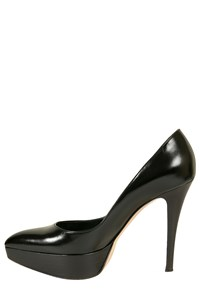 Gianvito Rossi Black Pointed Platform Pumps