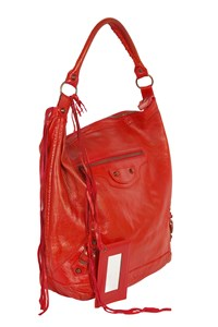 Balenciaga Classic Day Red Hobo Bag