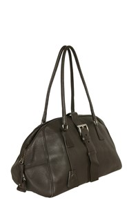 Prada Chocolate Brown Leather Tote Bag