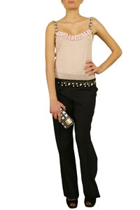 Moschino Embellished Knitted Top