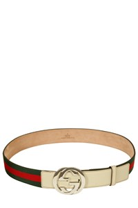 Gucci Green and Red Striped Belt