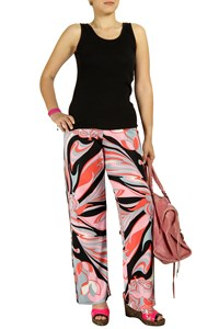Pucci Printed Wide-Leg Jersey Trousers