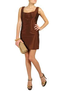 Dolce & Gabbana Rust-Coloured Taffeta Dress