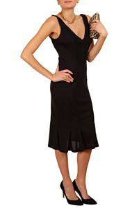D&G Black Waisted Dress with Outer Stitching