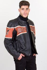 Harley Davidson Victory Lane Leather Jacket / Size: L - Fit: True to size