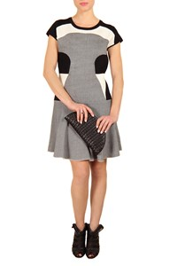 DVF Renee Fit and Flare Knitted Dress