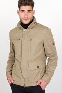 Brunello Cucinelli Ash Beige Light Jacket with Concealed Hood / Size: L - Fit: M
