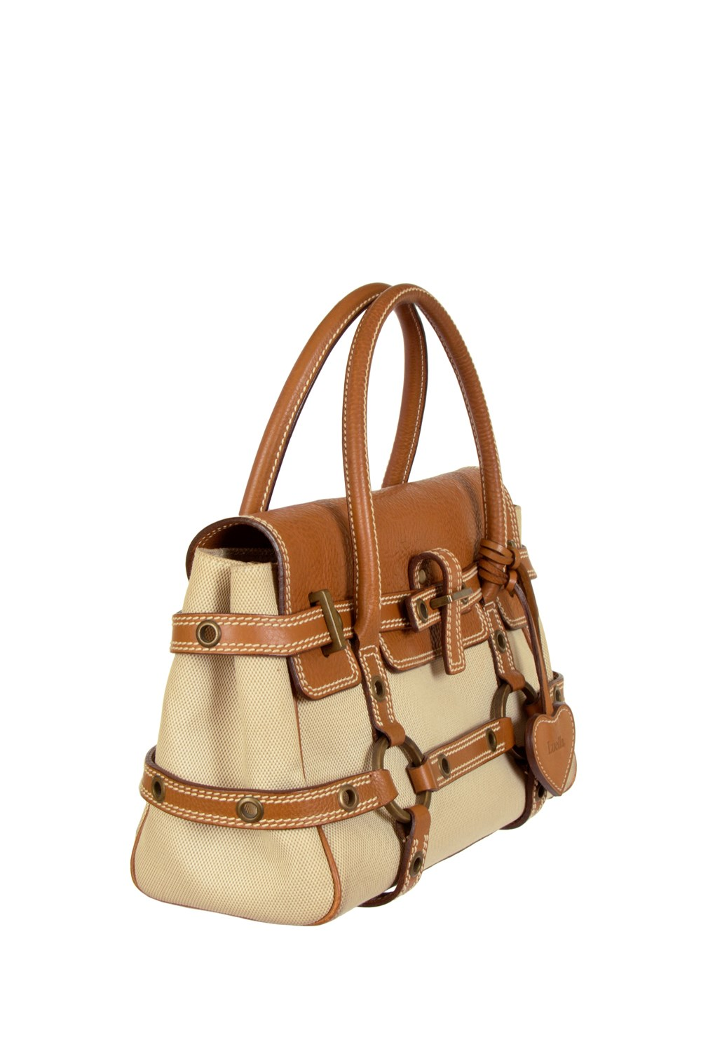 c37af4899f2d Gisele Beige and Tan Tote Bag