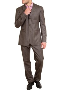 Versus Brown Striped Wool Suit