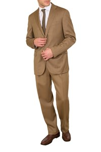 Caruso per Carouzos Light Brown Cool-Wool Blazer