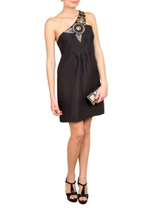 Tibi Embellished One-Shoulder Dress