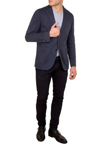 L.B.M. 1911  Limited Edition Dark Blue Cotton Blazer