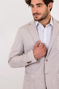 L.B.M. 1911  Limited Edition Light Grey Cotton and Linen Blazer
