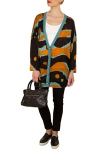 M Missoni Oversized Printed Knitted Cardigan