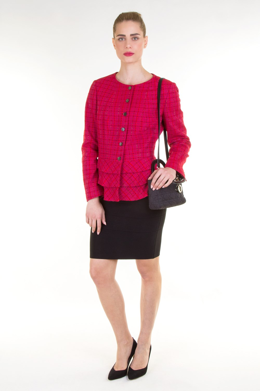 set of tweed blazer and skirt midi skirts skirts