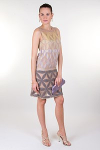 Missoni Metallic Knitted Low-Waist Dress