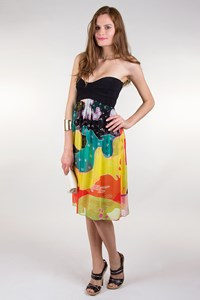 DVF Asti Printed Strapless Dress