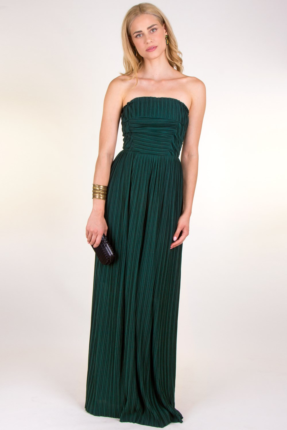 Forest Green Strapless Maxi Dress, Maxi Dresses, Dresses, Clothing ...