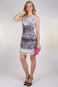 Osklen Monochrome Printed Organza Dress