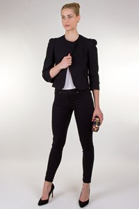 Diabless Black Blazer with Puff Shoulders