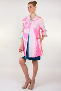 Milly Multicolored Coat with Metallic Thread