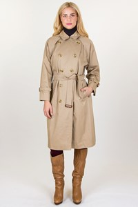 Burberry Beige Trench Coat with Raglan Sleeves