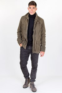 Prada Sport Khaki Military Jacket with Removable Padding